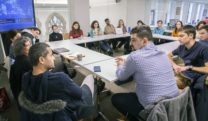"""Languages in Dialogue"" meets in the Poorvu Center for Teaching & Learning"
