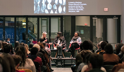 Marta Kuzma with Barbara Chase-Riboud and Claudia Rankine.