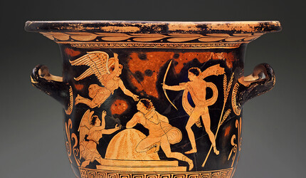 Ancient Grecian urn from Yale University Art Gallery's collection of antiquities