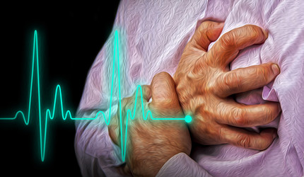 Graphic of an older person grasping her chest