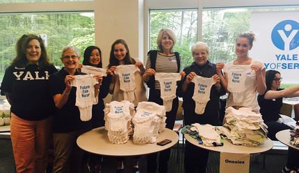 Volunteers for Newborns in Need, a Yale Day of Service event.