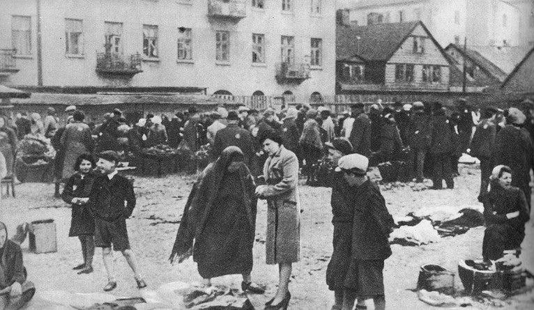 The Lodz ghetto in Poland