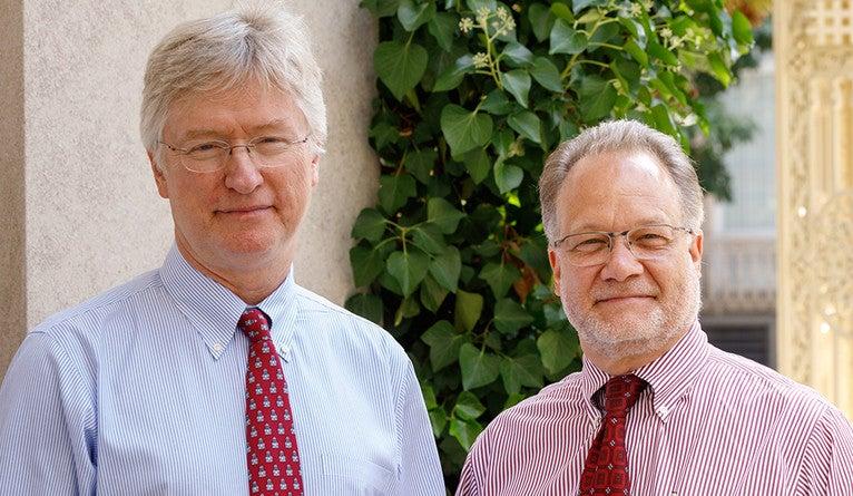 Photo of Dr. Patrick O'Connor and Dr. David Fiellin.