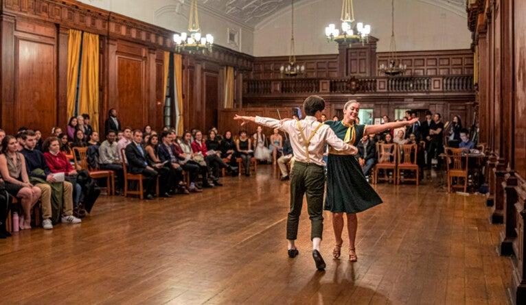 Having a ball on the dance floor   YaleNews