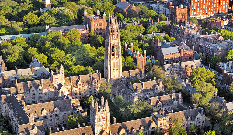 An aerial view of the Yale campus.
