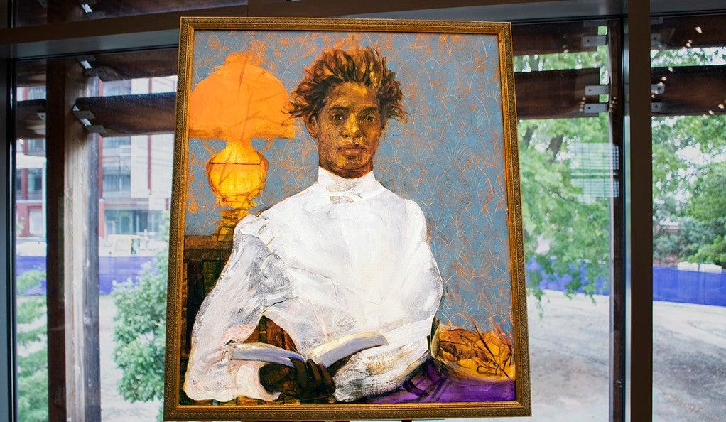 Portrait of Otelia Cromwell '26 Ph.D. painted by Jennifer Packer '12 M.F.A.