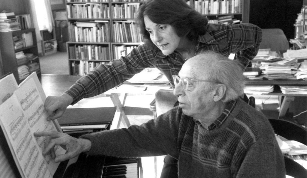 Vivian Perlis with the composer Aaron Copland.