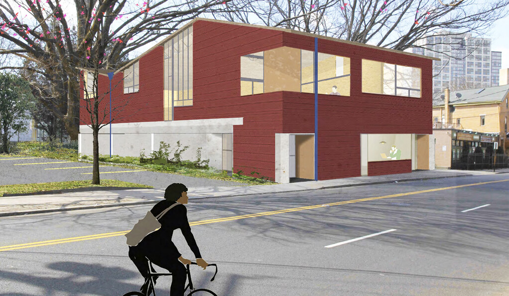 Artist rendering of building.