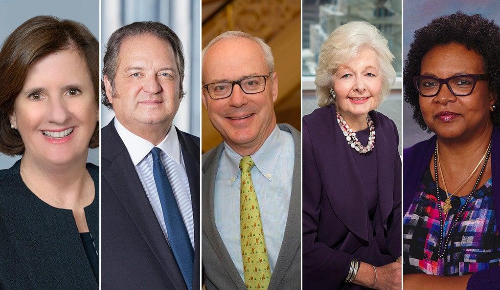 Lise Pfeiffer Chapman, Gregory J. Hall, Bo Hopkins, Margaret Hilary Marshall, and Sheryl Negash - Yale Medal Winners 2018.