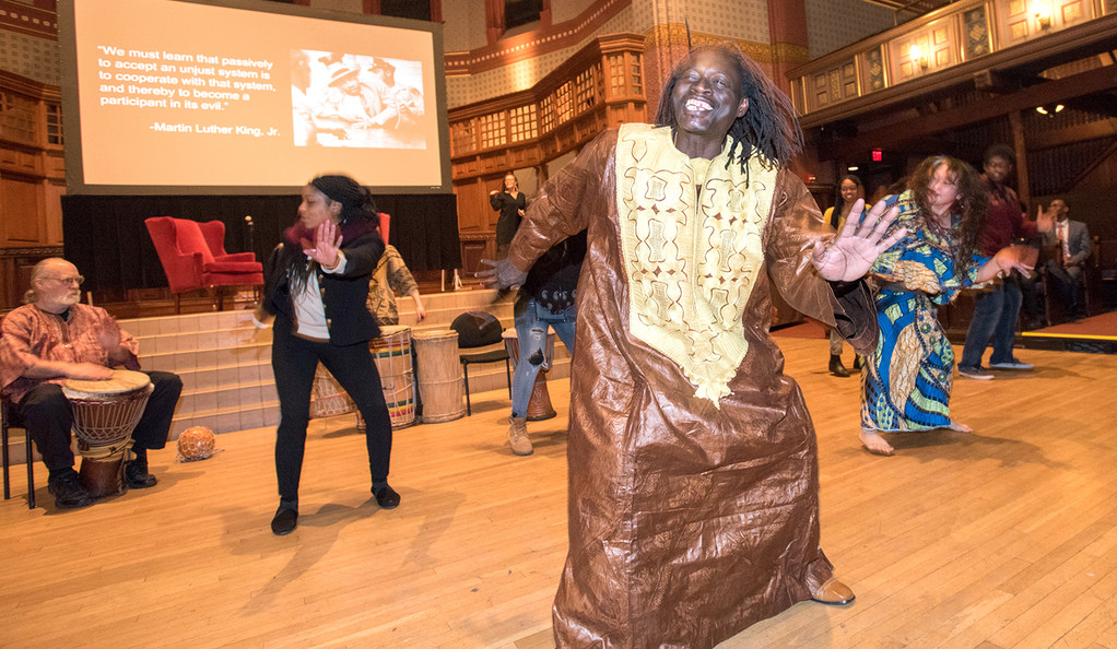New Haven School of African Drum & Dance group performance.