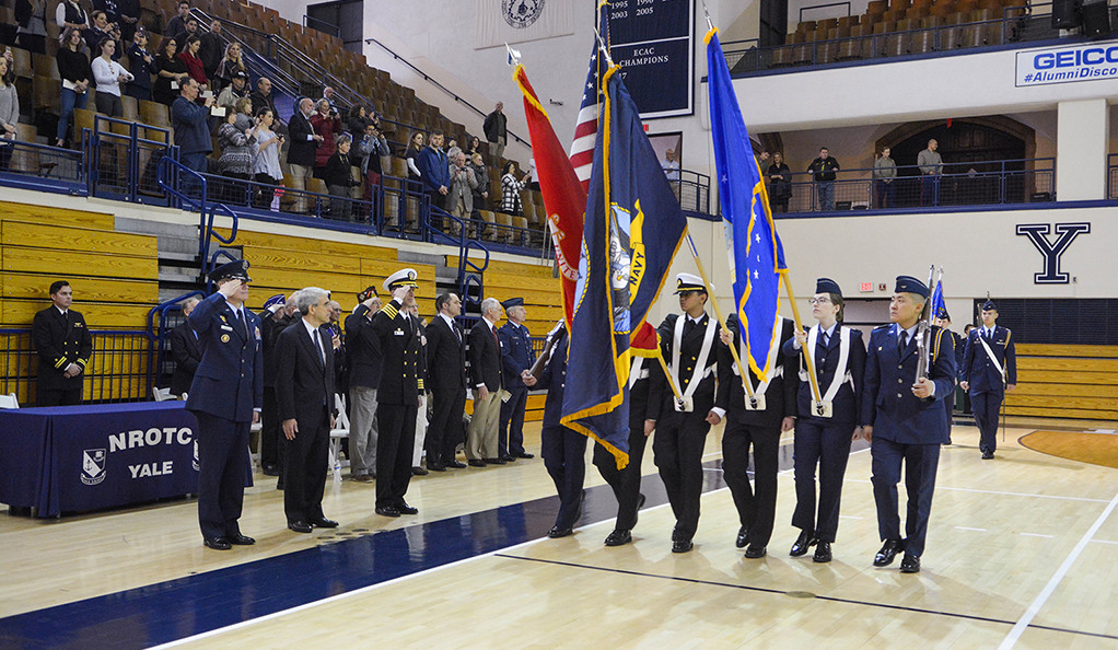 A scene from last years President's Review ceremony.