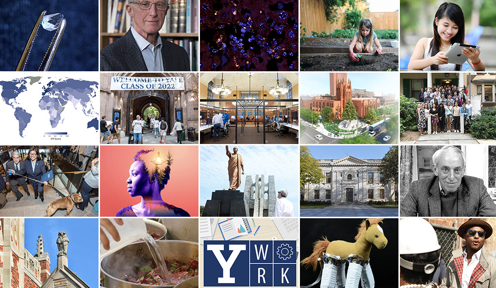 A collage of YaleNews top stories from 2018.