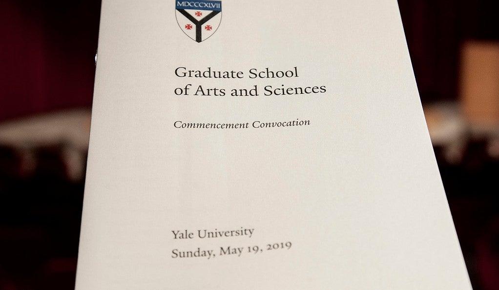 GSAS Convocation program