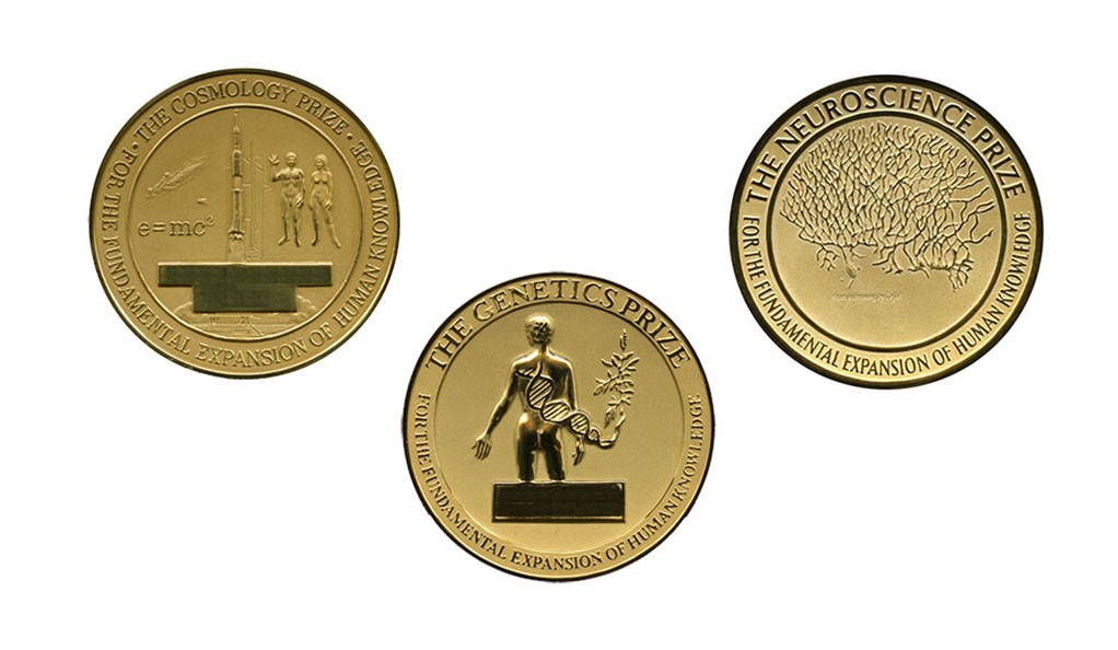 Gruber Foundation prize medals