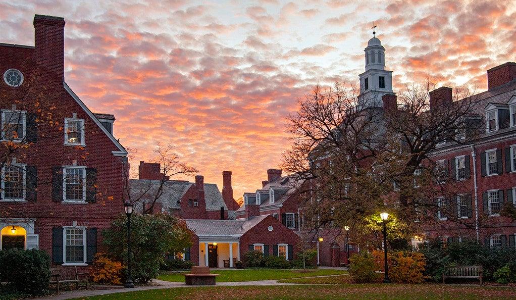 Sunset on Yale campus