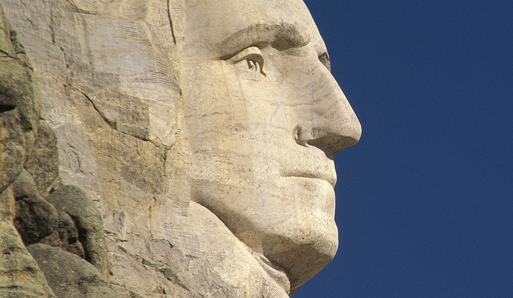 George Washington's nose on Mount Rushmore