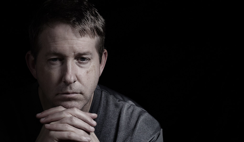 Mature man with depressed look