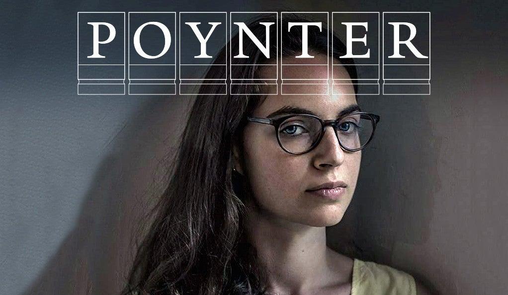 Alexandra Schwartz with Poynter Fellowship logo.