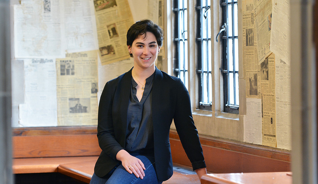 Amelia Nierenberg at the offices of the Yale Daily News