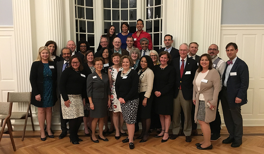 The Association of Yale Alumni Board of Governors posing in April 2018.