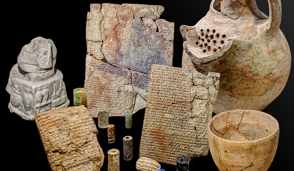 Ancient Babylonian tablets with recipes written in cuneiform — the earliest written recipes in history.