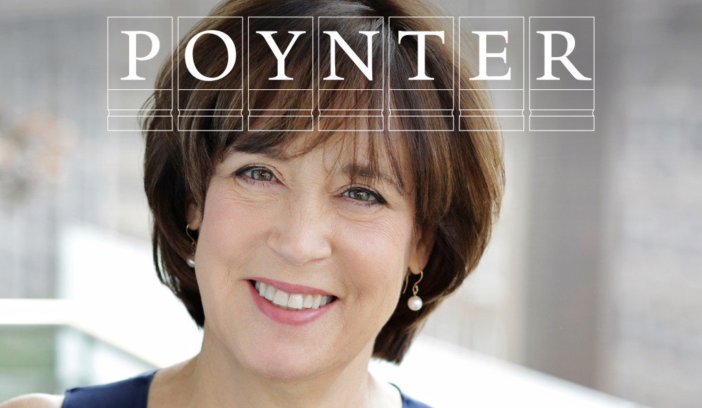 Betsy West with Poynter logo