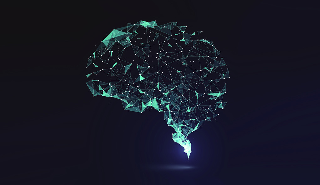 An illustration of a brain with neurons highlighted.