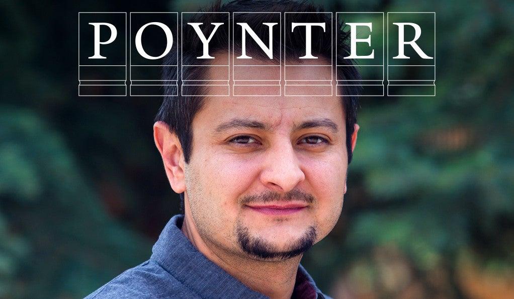 Ben Timpson with Poynter logo.