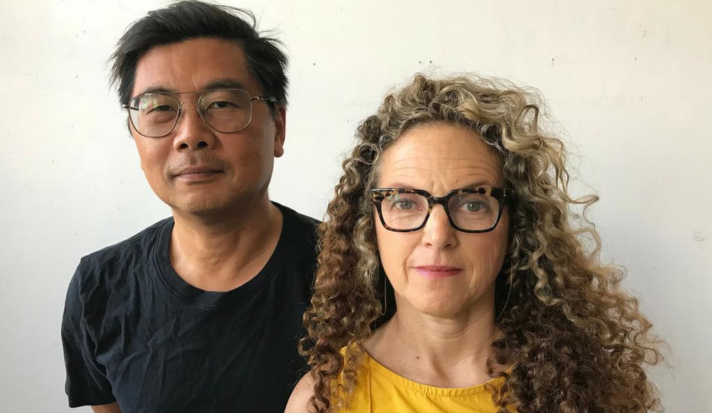 Artists Byron Kim and Lisa Sigal (Photo by Adeline Kim)