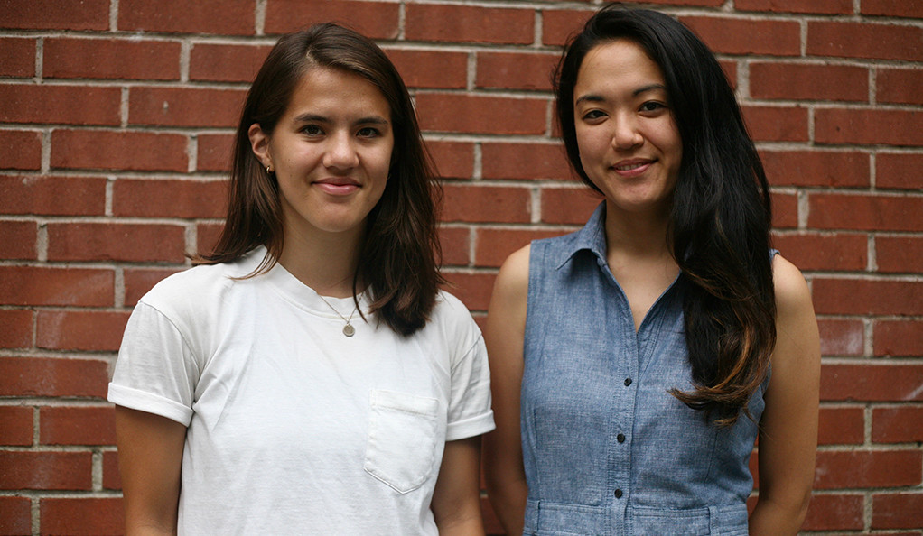Caroline Tanbee Smith '14 and Margaret Lee '14 B.A., cofounders of Collab, an accelerator for startups in New Haven.