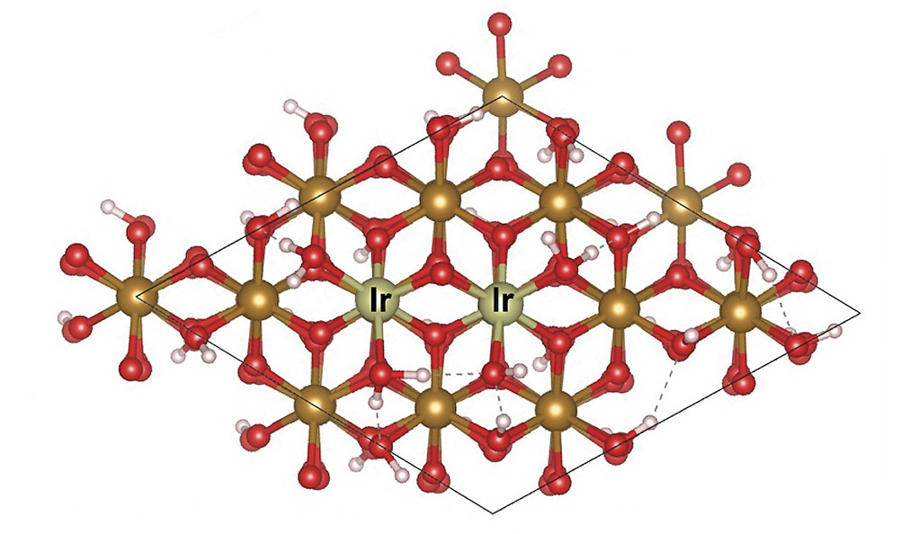 Iridium molecular diagram.