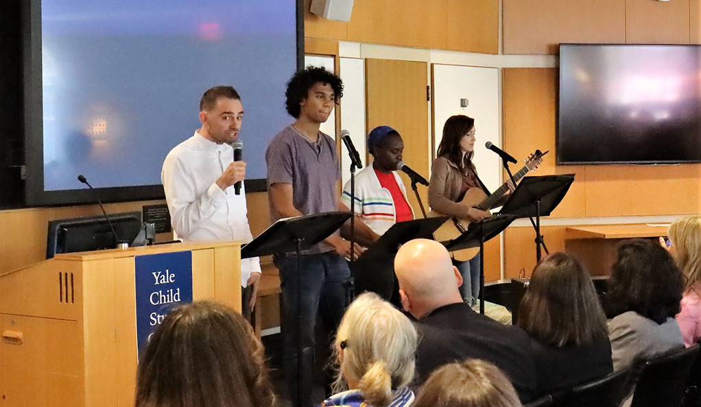Playwright Aaron Jafferis and fellow performers use rap, spoken-word, and song to dramatize stories of hospitalized teens.
