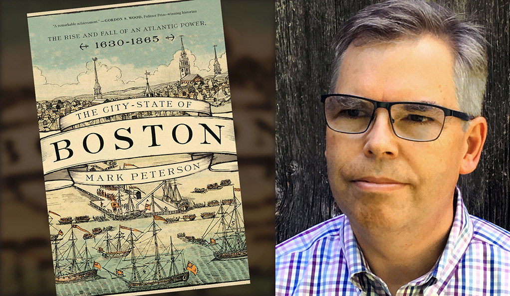 "Mark Peterson and his book, ""The City-State of Boston."""