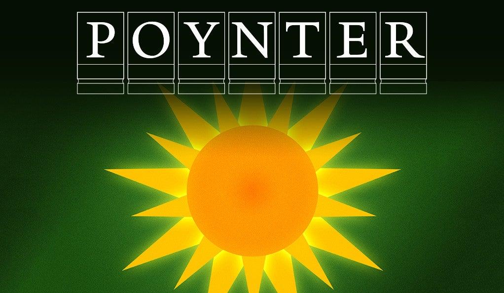 A sun illustration with the Poynter Fellowship logo.