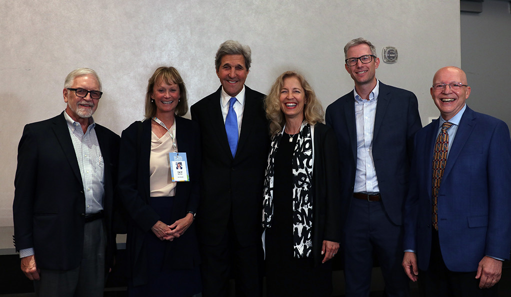 Wendell Brase, Dean Indy Burke, John Kerry, Ann Kurth, Georges Dyer, and Anthony Cortese