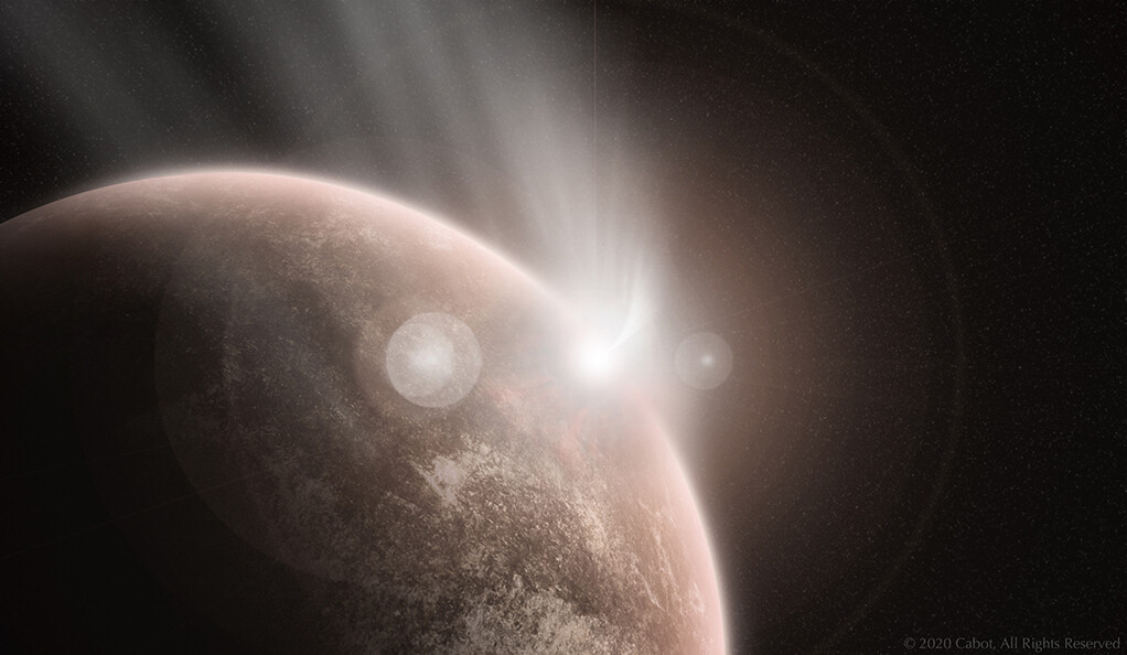 A comet strikes ancient Venus.