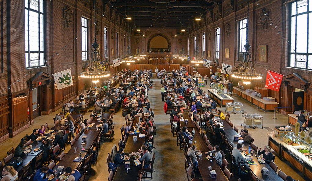 Inside view of Commons dining hall