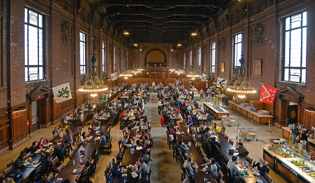 Interior view of Commons at Schwarzman Center on the Yale campus