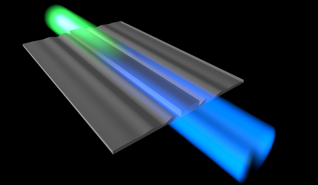 Cooling sound waves with light involves converting sound energy into light energy, which changes the color of the light.