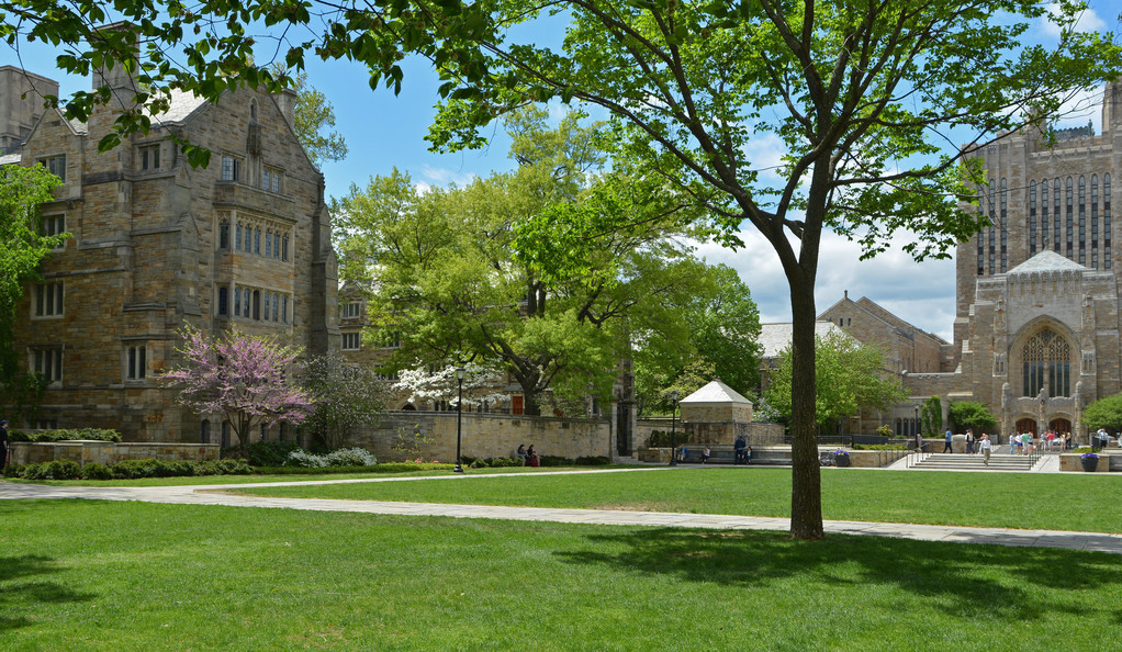 A photo of the Yale campus