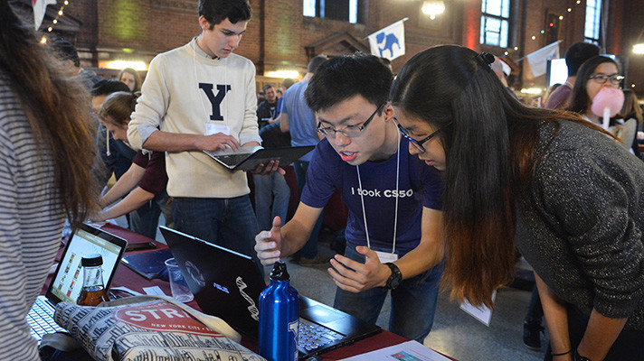 Students showcase innovative computer projects they