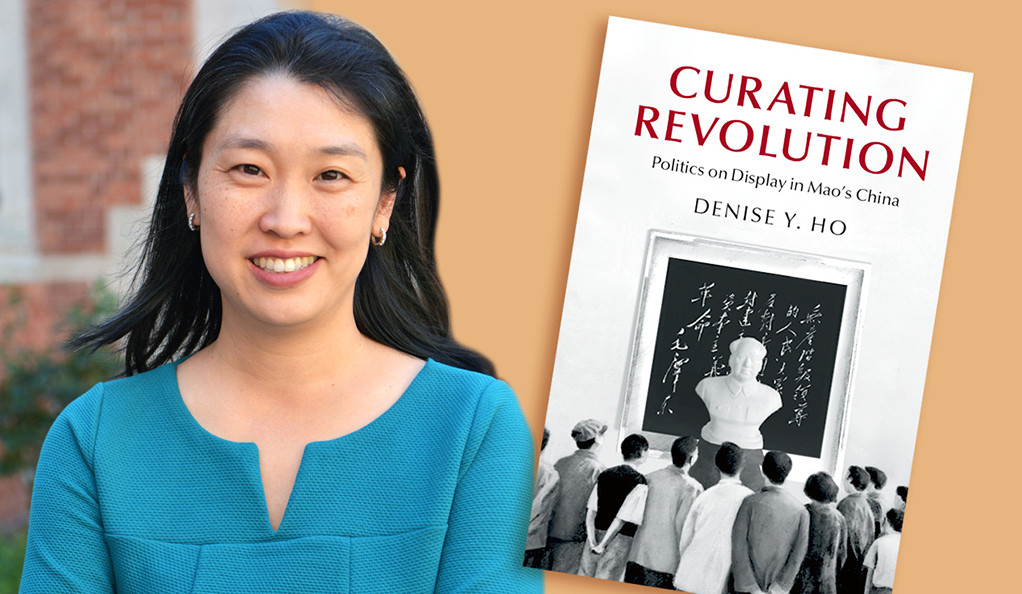 Yale historian Denise Y. Ho with her book, Curating Revolution: Politics on Display in Mao's China