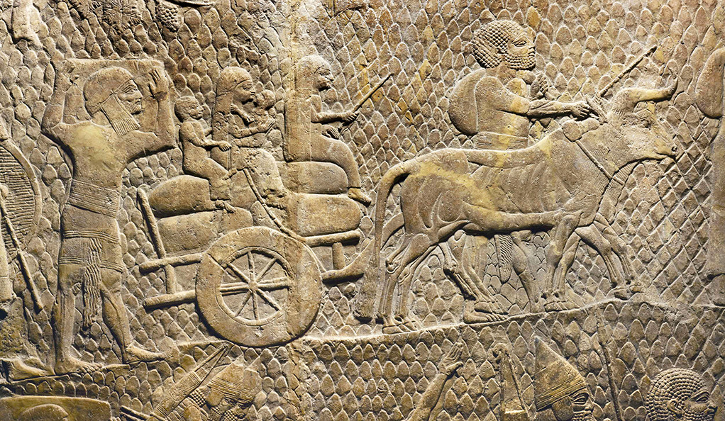 "Detail from bas-relief removed from Sennacherib's ""Palace Without Rival"""