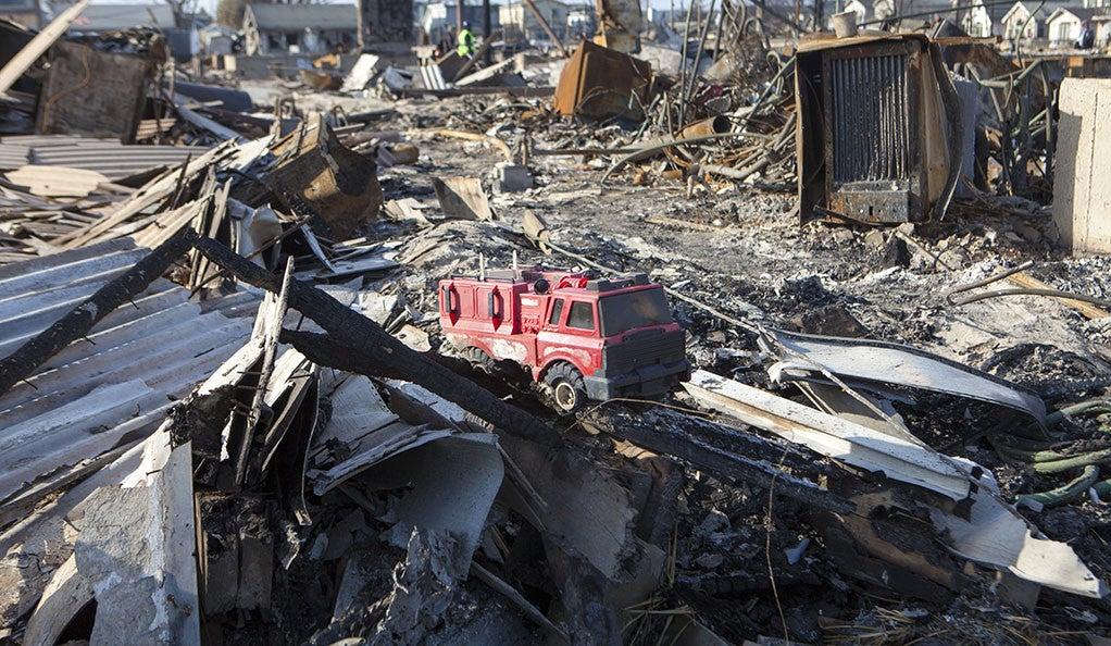 Image of devastation following a hurricane