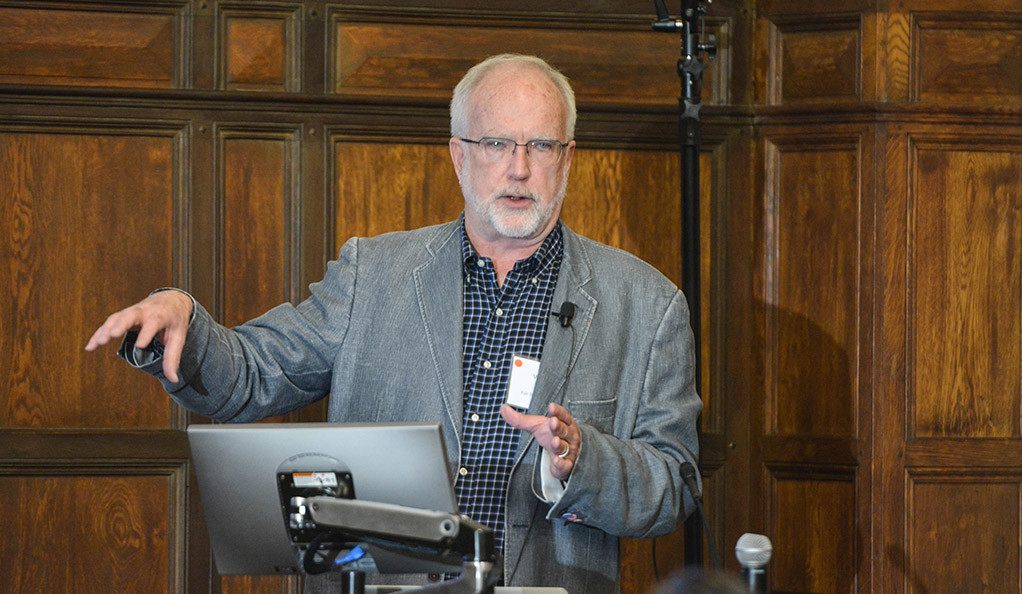 William Michener speaks at the Yale Day of Data.