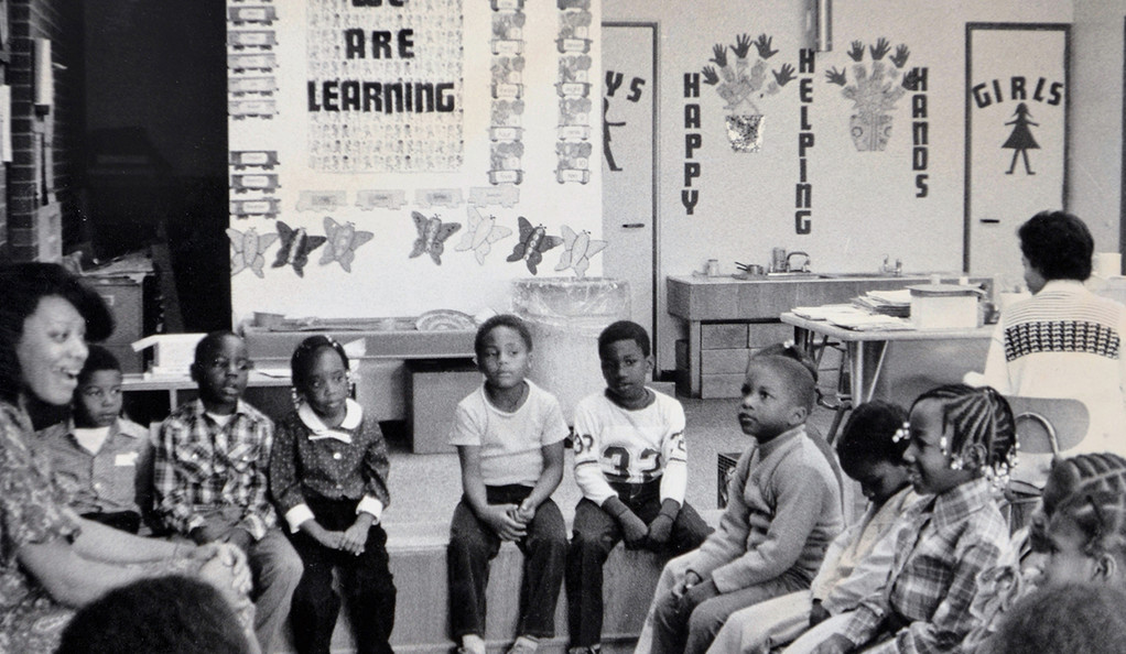 Students in the classroom at the Martin Luther King Jr. School in New Haven in the late 1960s.
