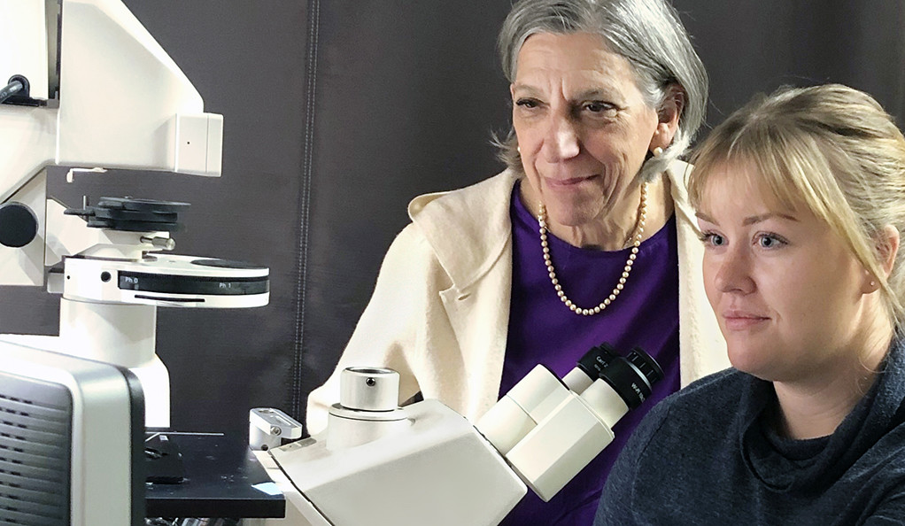 Barbara Ehrlich, Professor of Pharmacology and of Cellular and Molecular Physiology and Allison Brill '20 GSAS