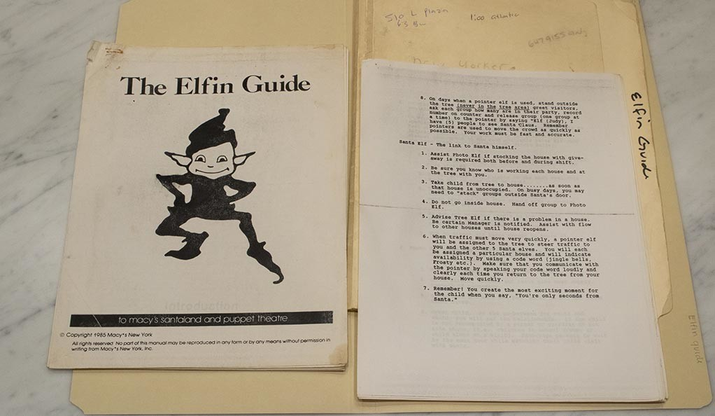 The guide that David Sedaris was given when he worked as an elf at Macy's.
