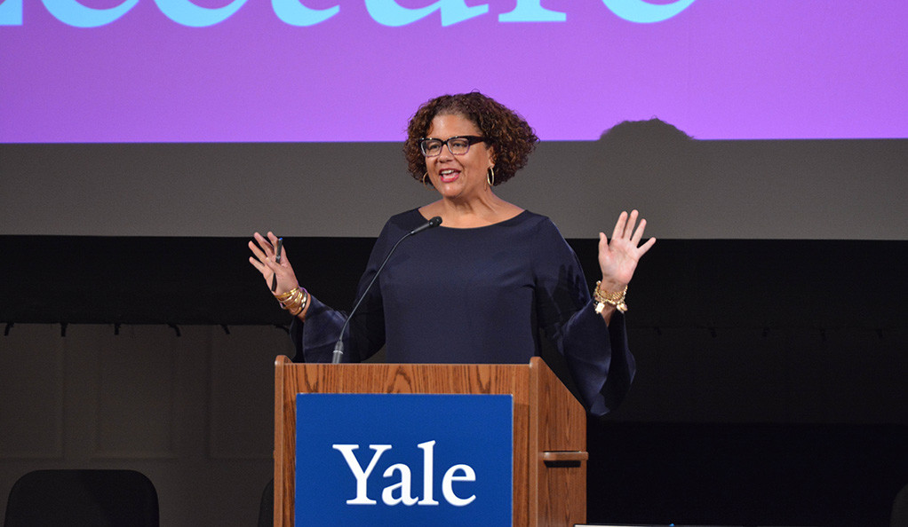 Elizabeth Alexander delivers the 2018 Windham-Campbell keynote address on Sept. 12 at Yale.