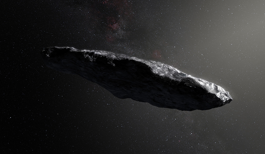 An artist's impression of 'Oumuamua.